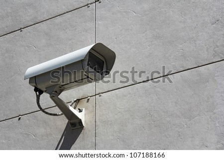Video Camera Security System on the wall