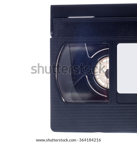 Video cassette isolated on white background. Video cassette - stock photo