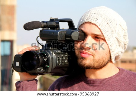Video Direction - stock photo