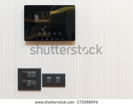 video door phone with electrical switch - stock photo
