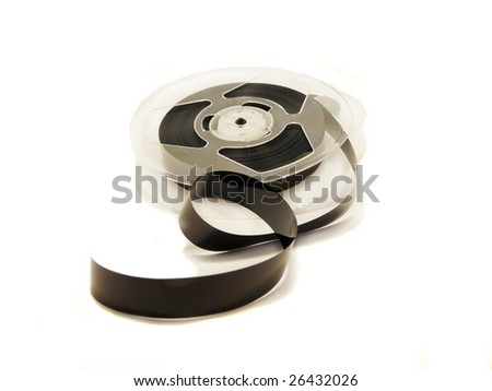 Video film tape reel - stock photo