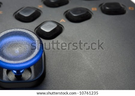 video game controller close-up - stock photo