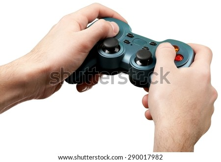 Video Game, Sport, Human Hand. - stock photo