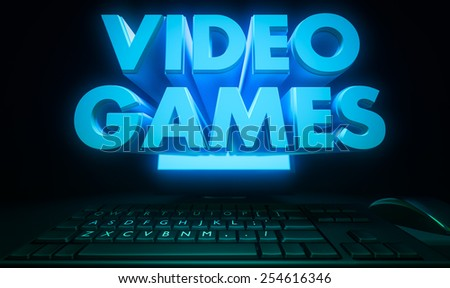 Video games - stock photo