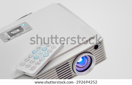 Video led projector for work presentation or home cinema  - stock photo
