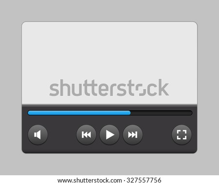 Video player interface for your site or apps. illustration. - stock photo