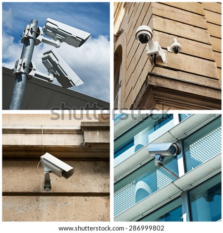 video security camera collage
