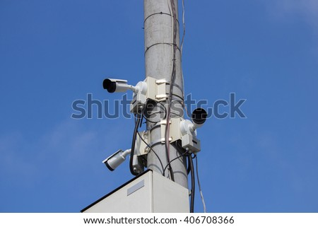 video surveillance cameras in the city
