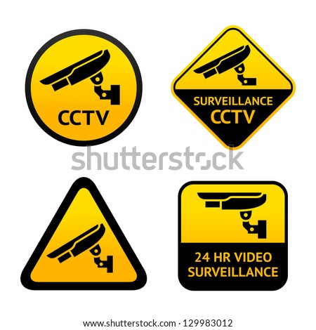 Video surveillance, set symbols