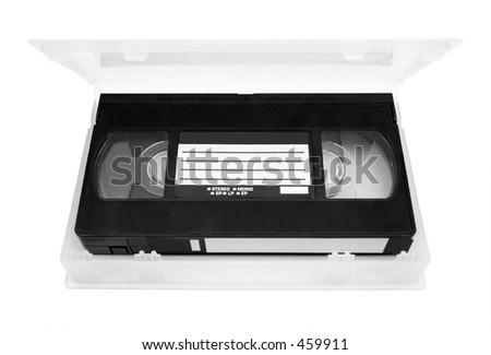 Video tape in case - stock photo