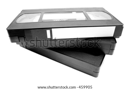 Video tapes - stock photo
