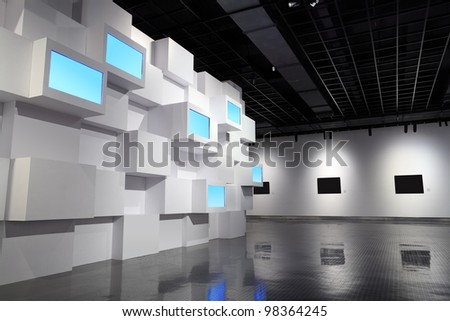 Video Wall Picture Frame Exhibition Room Stock Photo 98364245