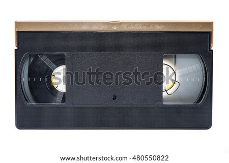 videotape on white backgrounds
