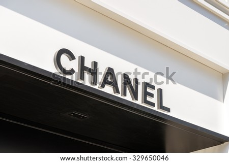 VIENNA, AUSTRIA - AUGUST 15, 2015: Chanel is a high french fashion house that specializes in haute couture and ready-to-wear clothes, luxury goods and fashion accessories.
