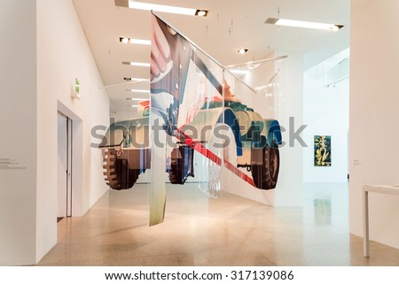 VIENNA, AUSTRIA - AUGUST 07, 2015: Mumok (Museum Moderner Kunst) Or Museum of Modern Art is a museum in the Museumsquartier in Vienna that has a collection of 7,000 modern and contemporary art works.
