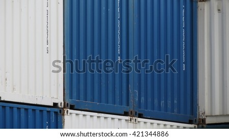 VIENNA, AUSTRIA - CIRCA APRIL 2016: industrial containers for transport