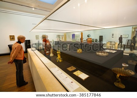 Vienna, Austria - December 19, 2015: Exhibition space in Leopold museum in Vienna.