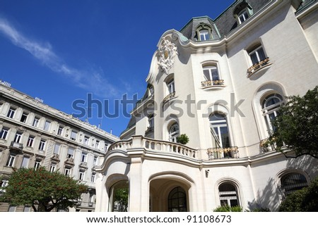 Vienna, Austria - French Embassy building. The Old Town is a UNESCO World Heritage Site.