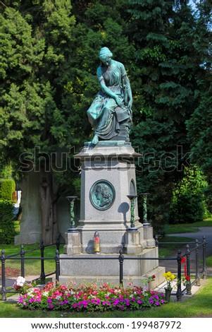 VIENNA, AUSTRIA - MAY 28, 2010: Mozart Memorial in Zentralfriedhof, Vienna, Austria. - stock photo