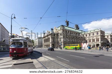 VIENNA, AUSTRIA - MAY 15, 2012: The State Opera House (german Staatsoper) of Vienna.  - stock photo