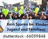 VIENNA, AUSTRIA - NOVEMBER 27: thousands are demonstrating peaceful against cutting of social expenditures by the government specially for kids and families on  November 27, 2010 in Vienna, Austria. - stock photo