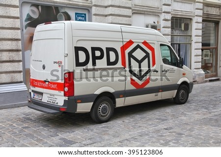 VIENNA, AUSTRIA - SEPTEMBER 7, 2011: DPD van in Vienna. DPD is currently one of largest parcel delivery companies with 24,000 employees worldwide (2011). It exists since 1977.