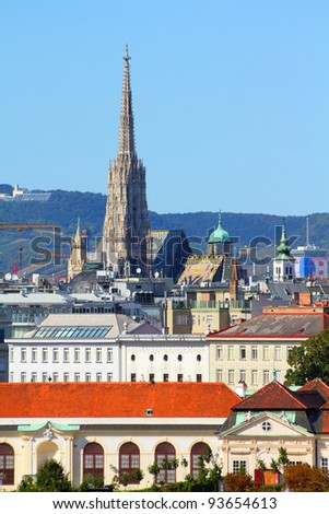 Vienna, Austria - view of the city. Old town skyline. - stock photo