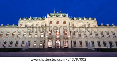 Vienna - Belvedere palace at dusk