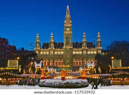 Vienna Christmas Market - stock photo
