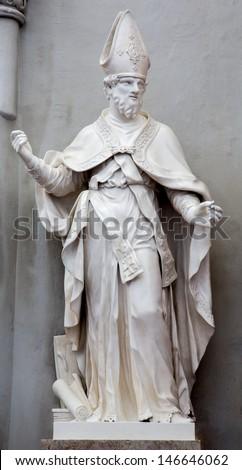 VIENNA - JULY 3: Statue of  st. Augustine the big teacher of west church in Augustinerkirche or Augustine church on July 3, 2013 Vienna.  - stock photo
