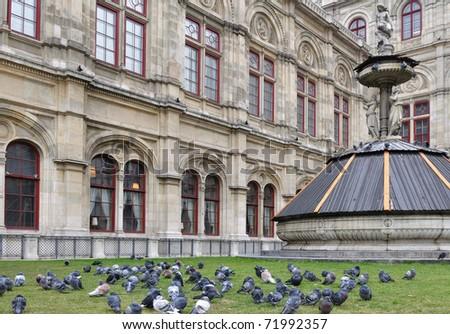 Vienna state opera - stock photo