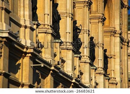 Vienna State Opera House Statues (Wiener Staatsoper) - Vienna Austria - stock photo