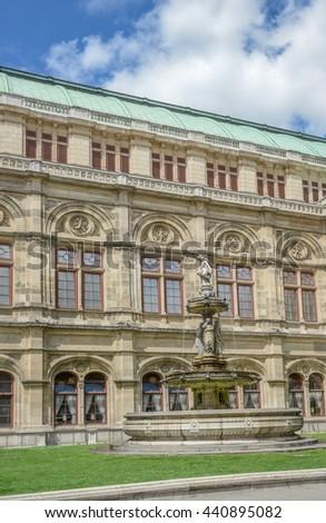 Vienna State Opera House Statues (Wiener Staatsoper) - Vienna Austria, europe - stock photo