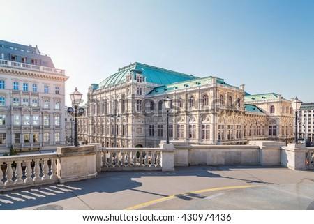 Vienna State Opera, view from Albertina, Vienna, Austria - stock photo