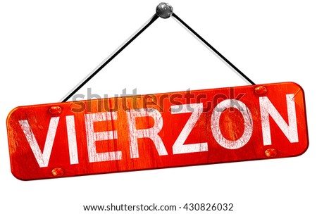 vierzon, 3D rendering, a red hanging sign