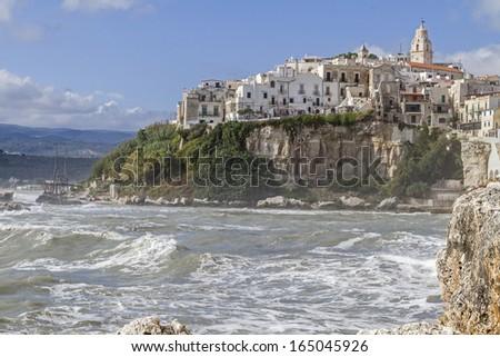 Vieste - capital of the Gargano coast - stock photo