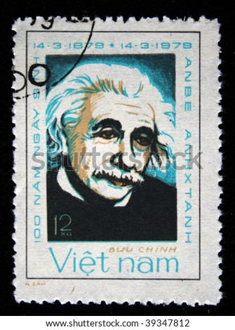 VIETNAM - CIRCA 1979: A stamp printed in Vietnam shows Albert Einstein, series, circa 1979