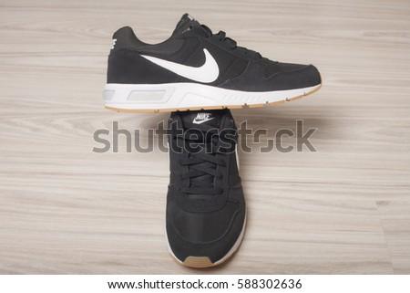 VIETNAM - feb 25, 2017: Nike sport running shoe with box