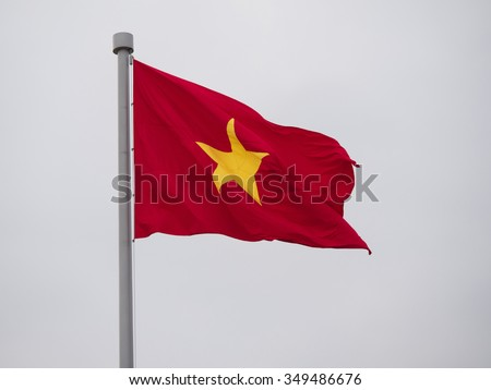 Vietnam flag (with clipping path) - stock photo