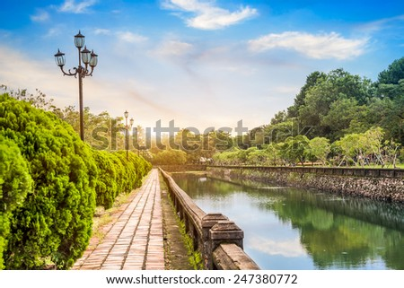 Vietnam's Park - stock photo