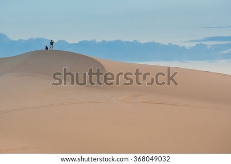 Vietnam sand dune at early morning