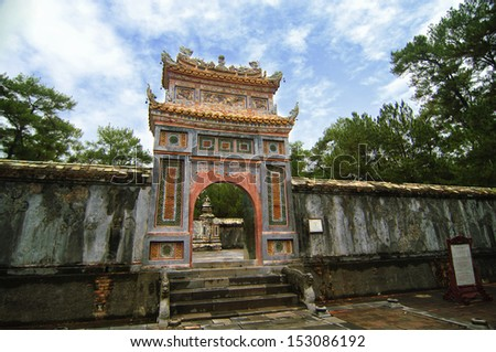 Vietnam temple - stock photo