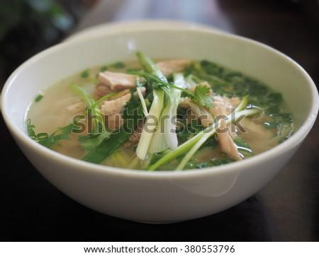 Vietnamese Chicken Pho - stock photo