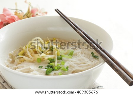 Vietnamese food, rice noodle Pho