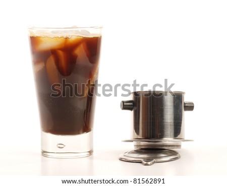Vietnamese iced coffee - stock photo