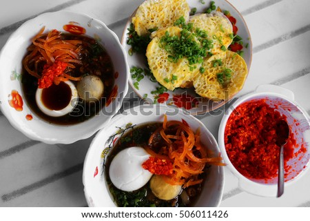 Vietnamese pancake and side dishes - Traditional food at the middle of Vietnam