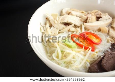 Vietnamese pho noodle - stock photo