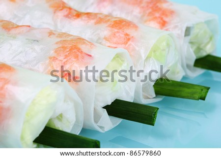 Vietnamese spring rolls - stock photo