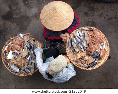 Vietnamese street vendor in Hanoi