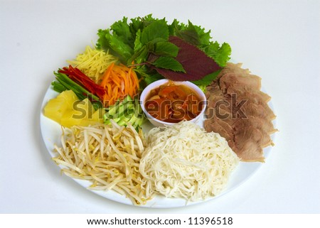 Vietnamese vermicelli - stock photo
